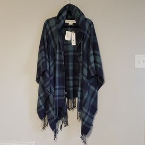 TREASURE & BOND Plaid Hooded Poncho